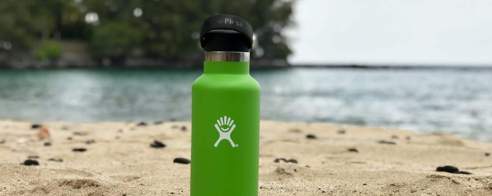 hydro flask at beach