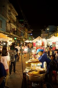Shop at a Night Market in Thailand