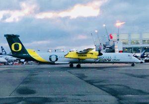 oregon ducks alaska airlines plane