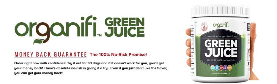 Organifi banner green juice travel