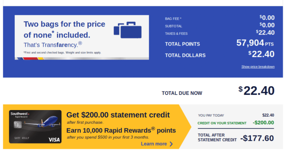 rewardstock review southwest flights