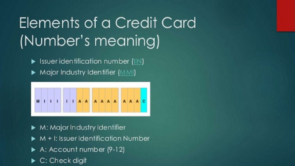How is a credit card number selected