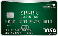 capital one spark cash for business card art