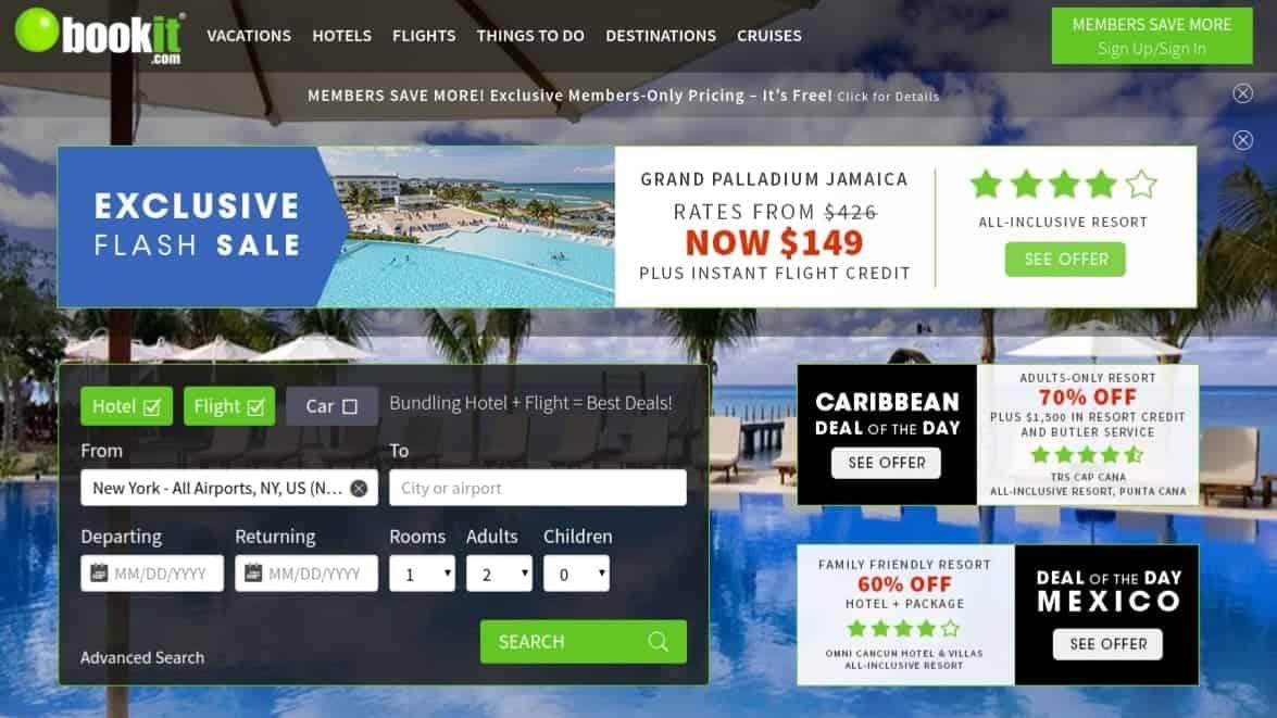 bookit best flight search engine