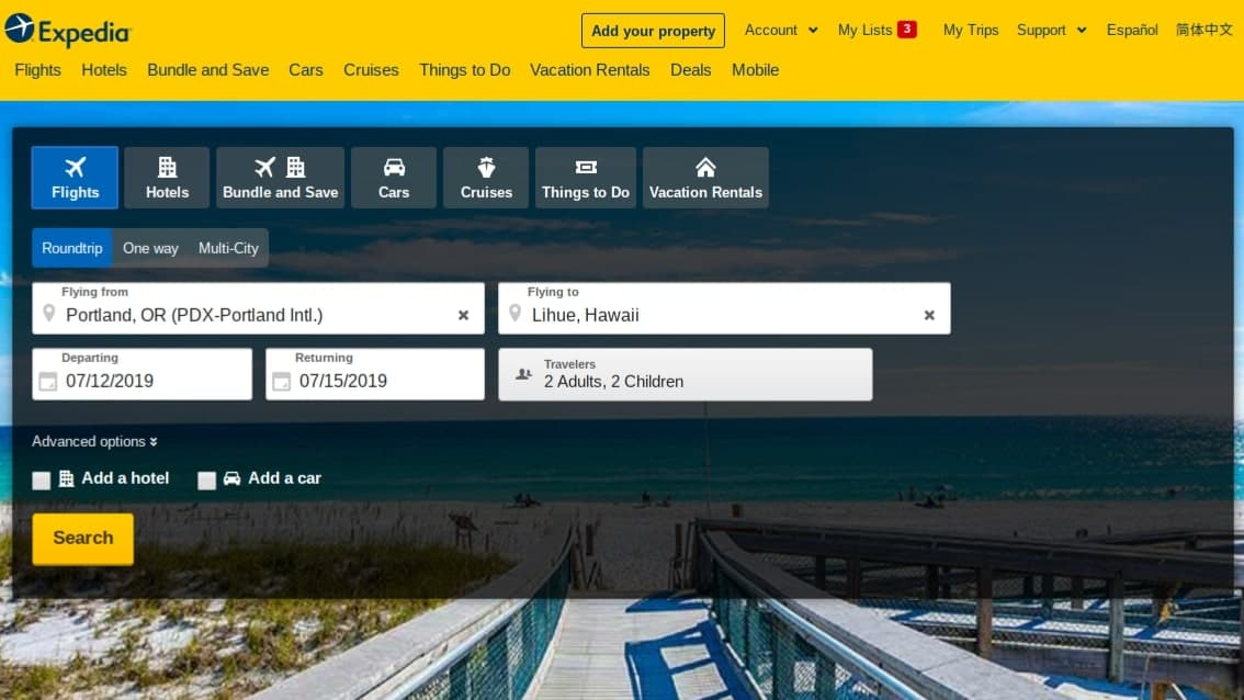 expedia best flight search engine