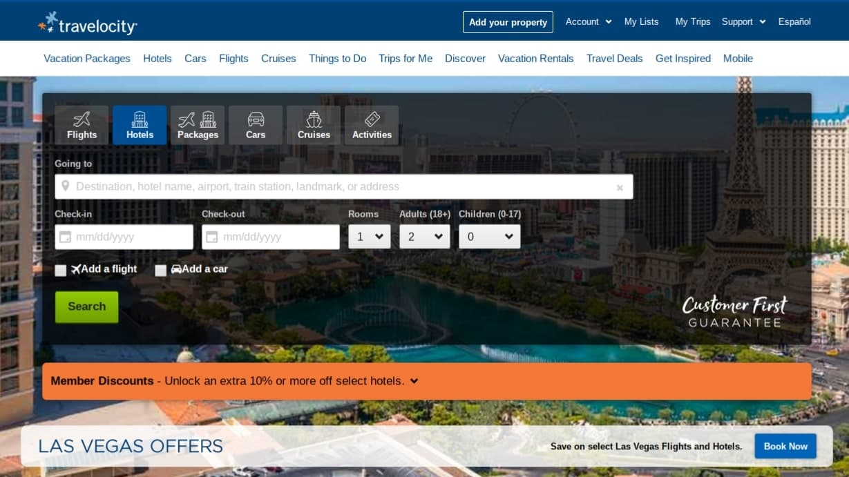 travelocity best flight search engine