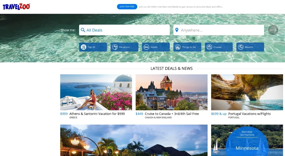 travelzoo best flight search engine