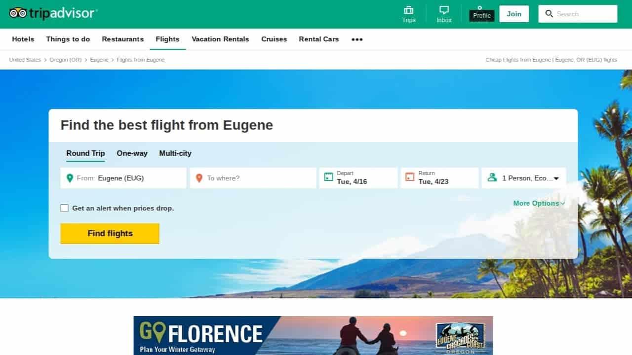 tripadvisor best flight search engine