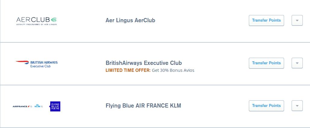 30 bonus chase ultimate rewards british airways avios